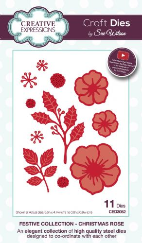 FESTIVE COLLECTION - Christmas Rose CED3052 by Sue Wilson